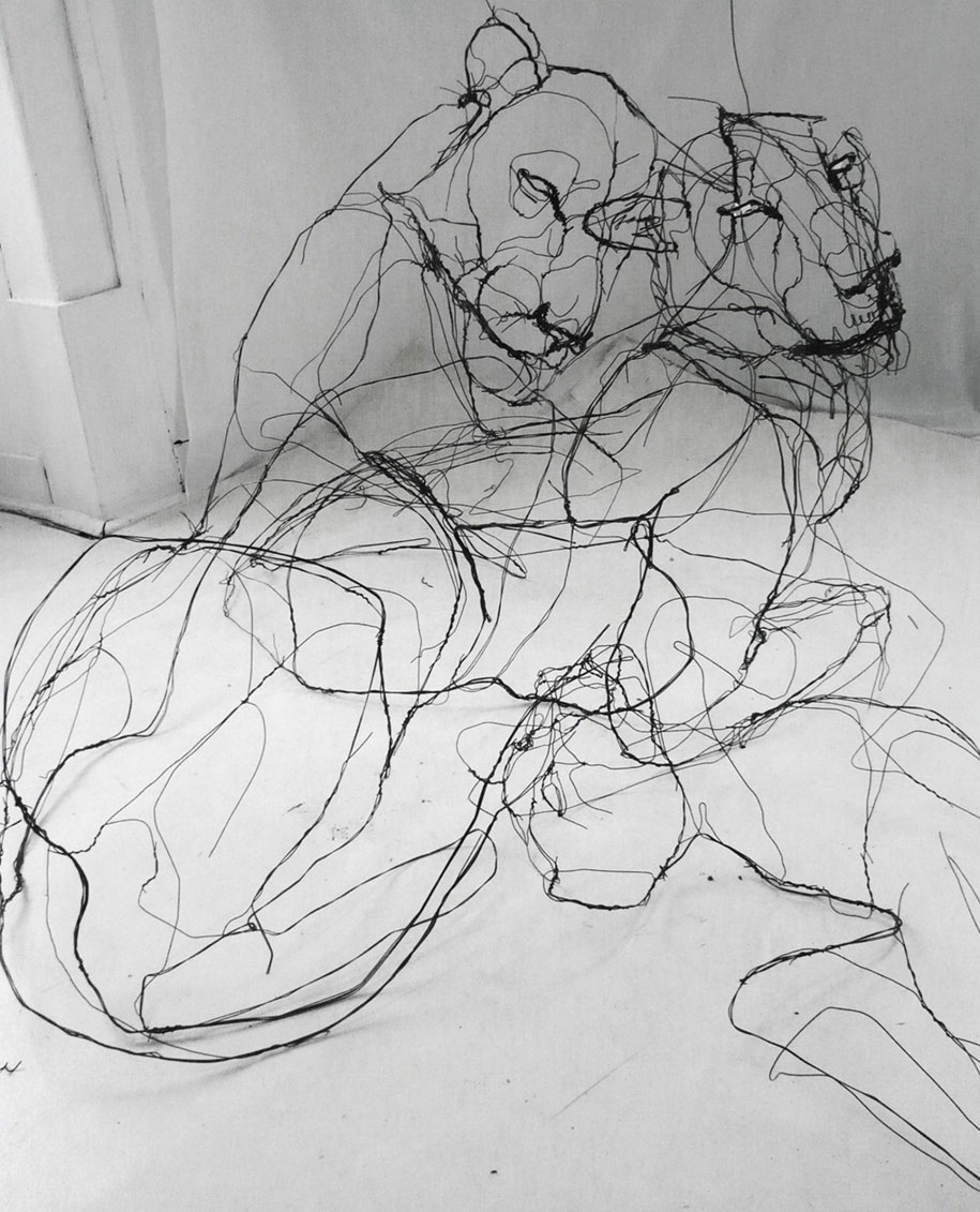 sketchbook-scribble-wire-animal-sculpture-statues-david-oliveira-portugal-8