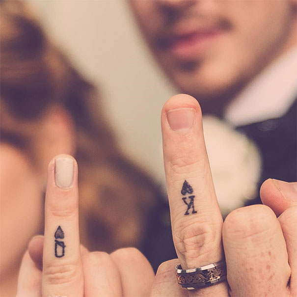 23 Newlyweds Who Chose Tattoos Instead Of Rings Demilked