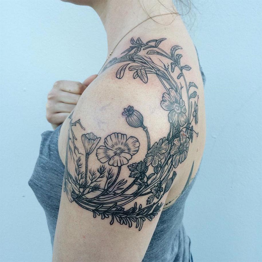 vintage-naturalistic-animal-plant-tattoos-pony-reinhardt-tenderfoot-18