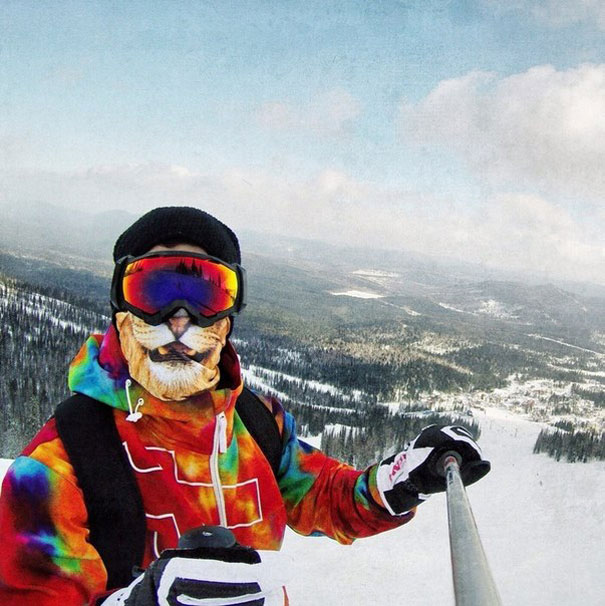 Animal Balaclavas Turn Skiers Into Cats And Lions 5dcfd298a381