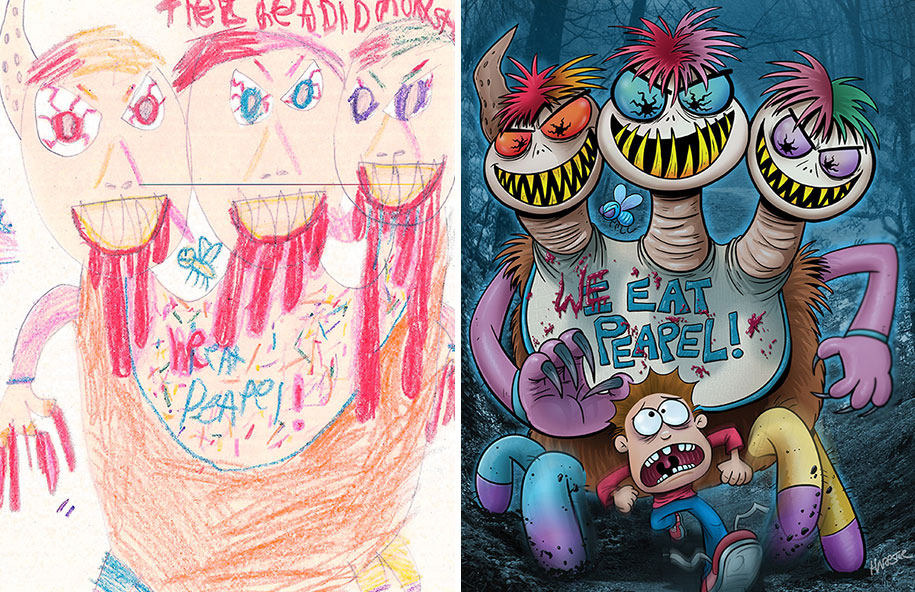artists-redraw-children-drawings-inspiration-monster-project-9