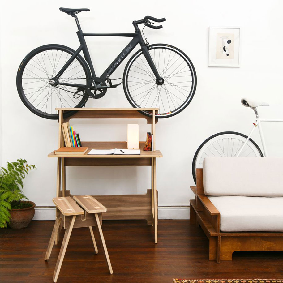 Bicycle Furniture Furniture Doubles As Bike Racks To Save Space In Tiny Apartments