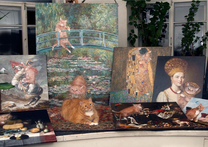 classical-paintings-zarathustra-fat-cat-art-svetlana-petrova-11