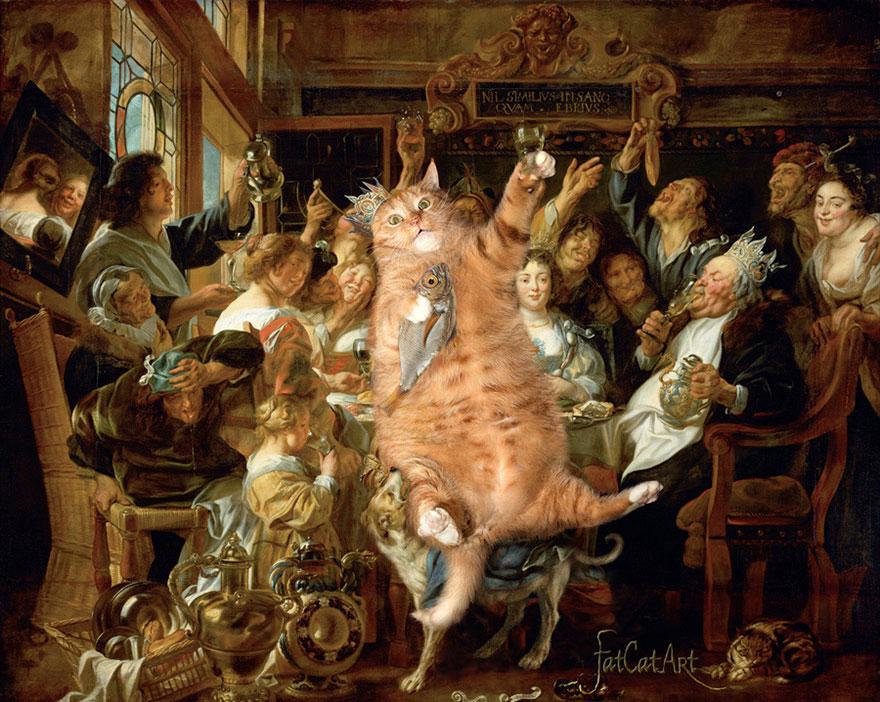 classical-paintings-zarathustra-fat-cat-art-svetlana-petrova-9