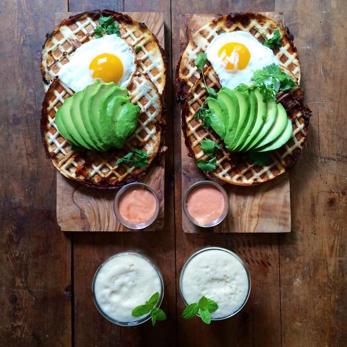 Loving Man Makes Symmetrical Breakfasts For His Boyfriend: Loving Man Prepares Symmetrical Breakfast For Him And His