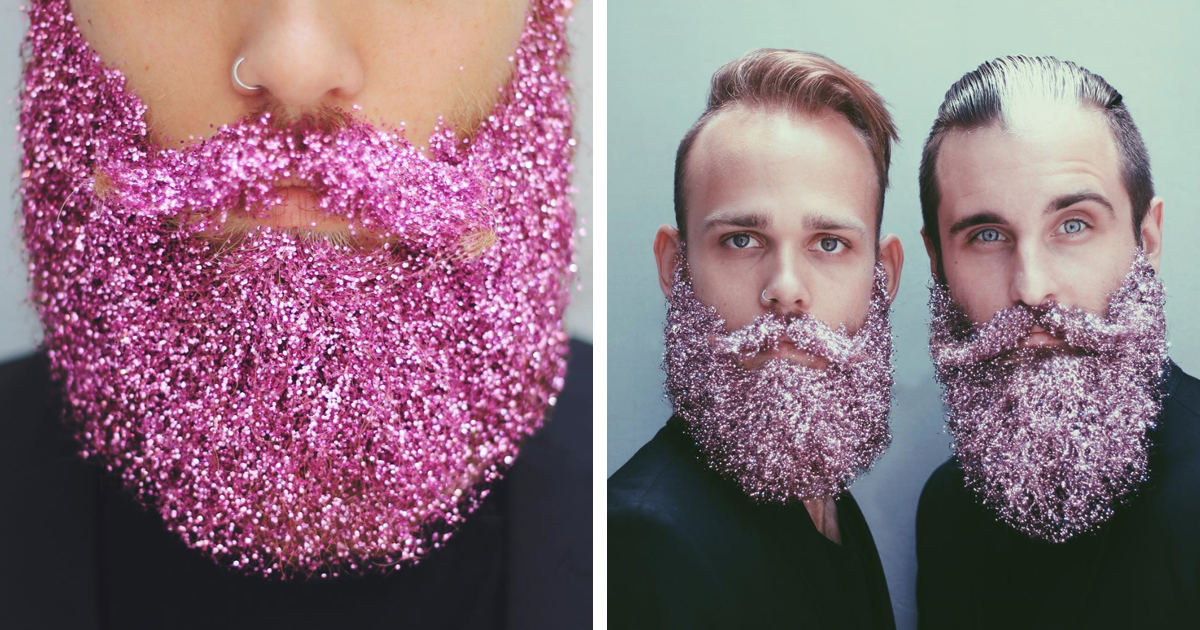 This Glitter Beard Trend Came Just In Time For The Holiday