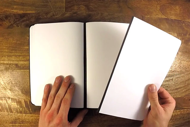first ever notebook with magnetic spine lets you remove and reattach