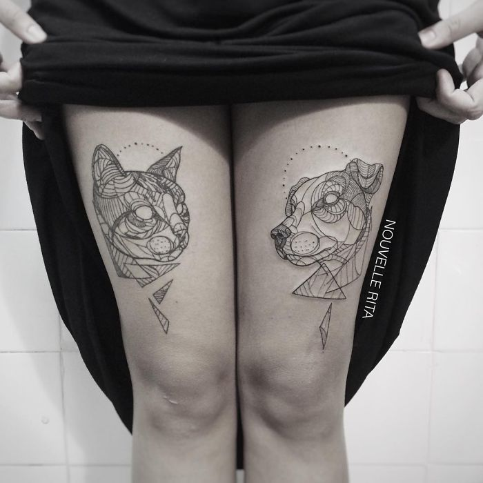 42405d2e4 Amazing Minimalist Linear Tattoos By Nouvelle Rita | DeMilked