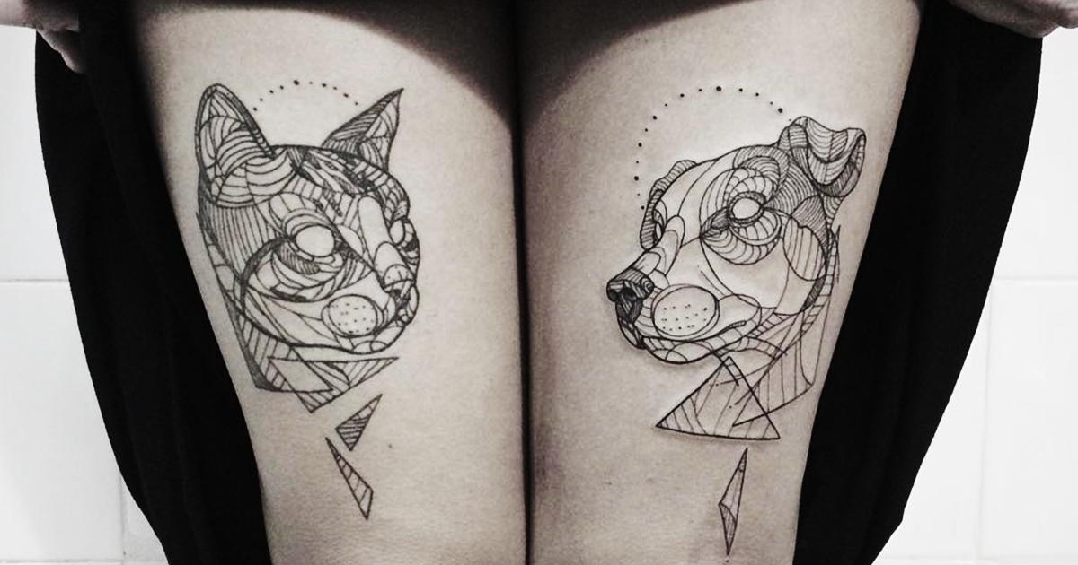 Line Art Tattoos : Line art demilked