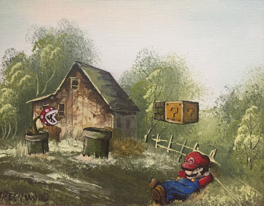pop-culture-characters-additions-thrift-store-paintings-dave-pollot-14
