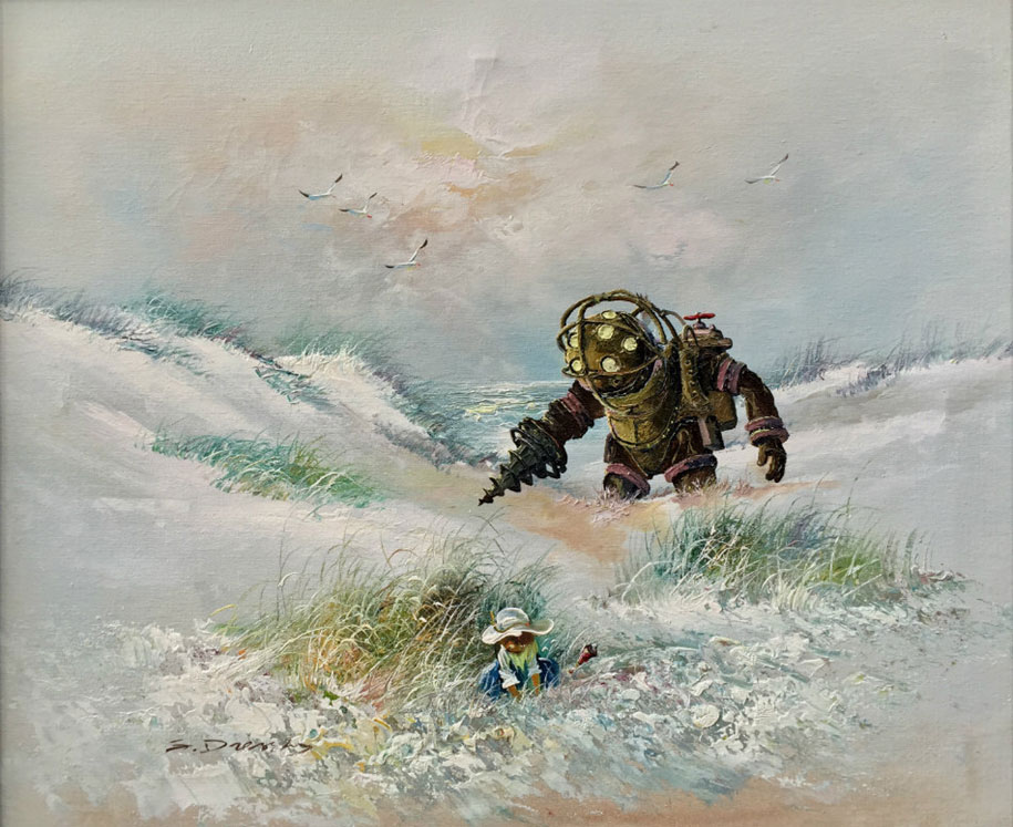 pop-culture-characters-additions-thrift-store-paintings-dave-pollot-7