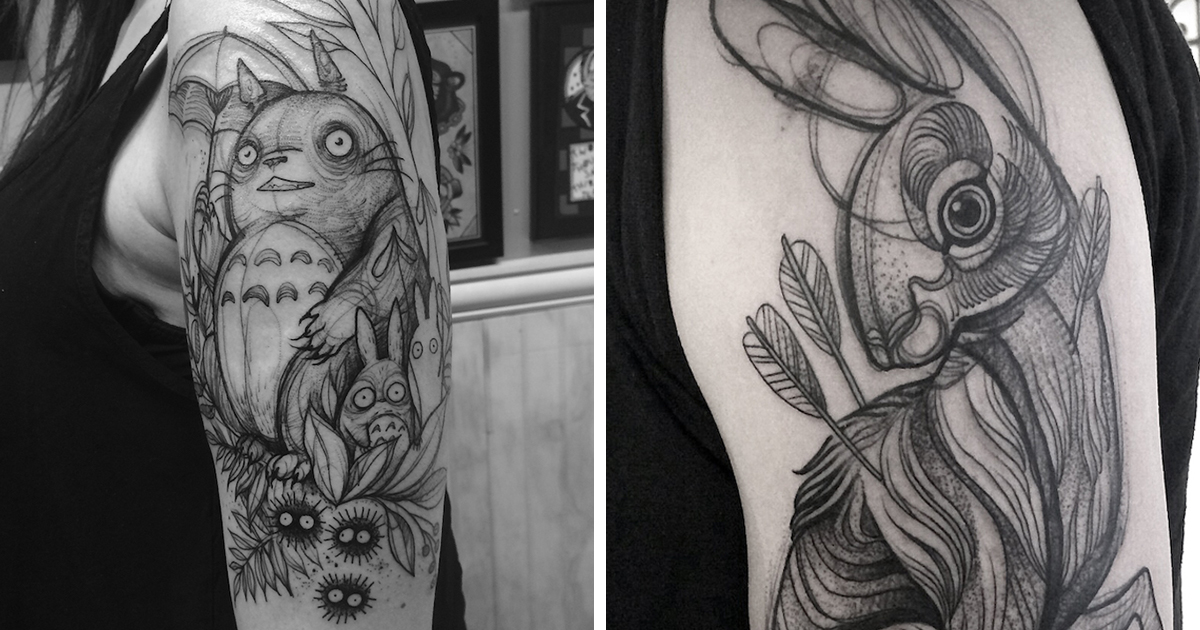 Tato Art Styles: Sketch Tattoos Look Like They've Been Drawn On With A Pencil