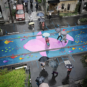 Of The Most Colorful Steps Around The World - Beautiful street murals appear on roads only when it rains