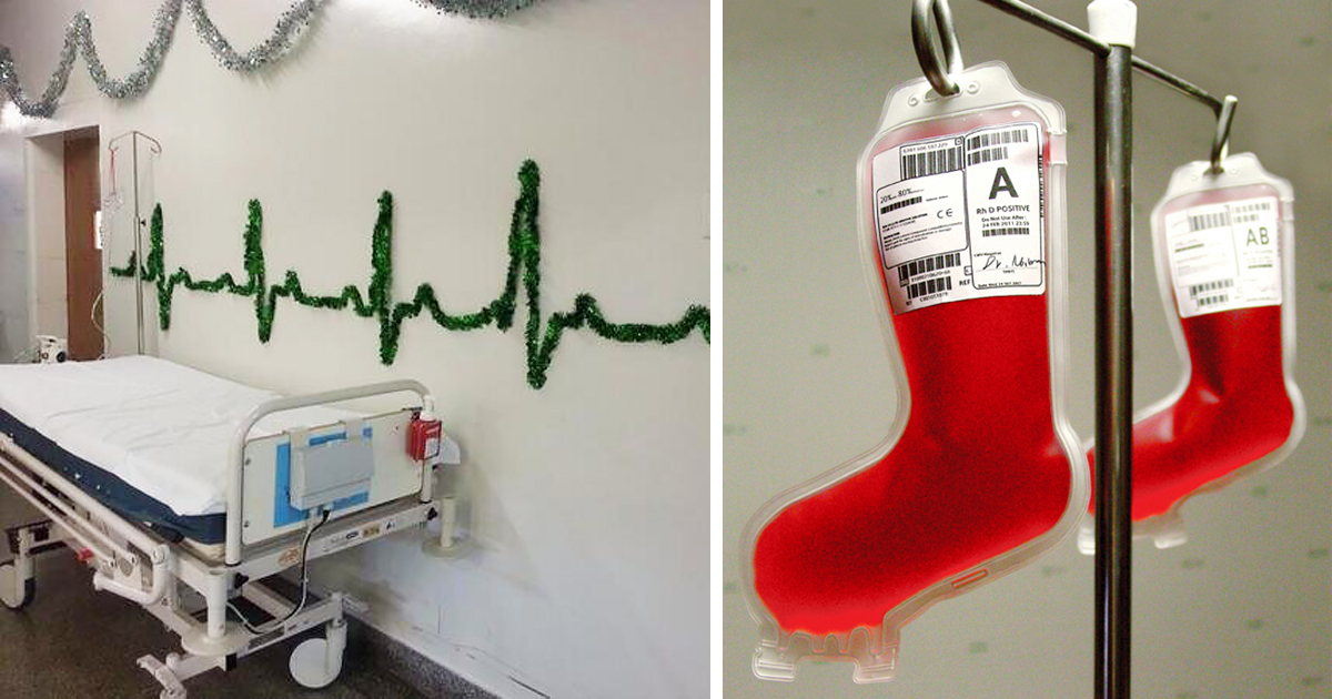 10 Christmas Decorations By Creative Hospital Staff Demilked