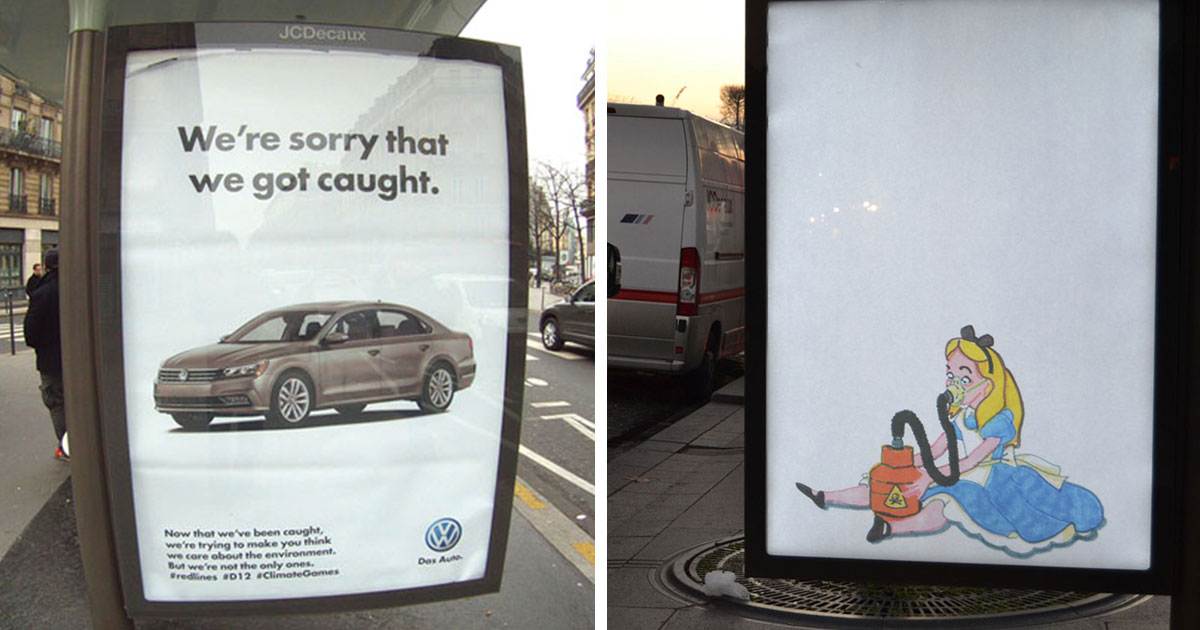 Artists Install 600 Fake Ads Across Paris To Protest