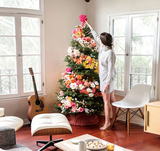 flower-floral-christmas-tree-decorations-12