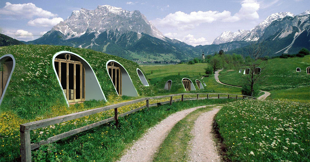 10 hobbit like scandinavian houses with green roofs