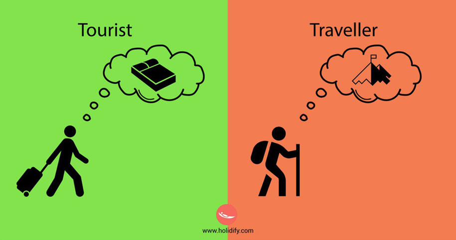 The tourist vs. the traveler