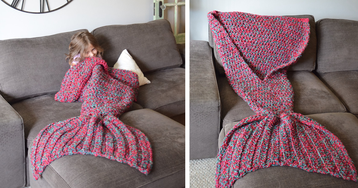 Knitting Pattern For Mermaid Tail Blanket : Crocheted Mermaid Tail Blankets By Melanie Campbell