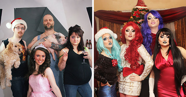 this family takes different kinds of christmas family photos