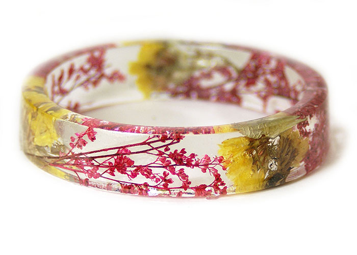 Plant Flower Resin Bracelet Bangles Modern Child