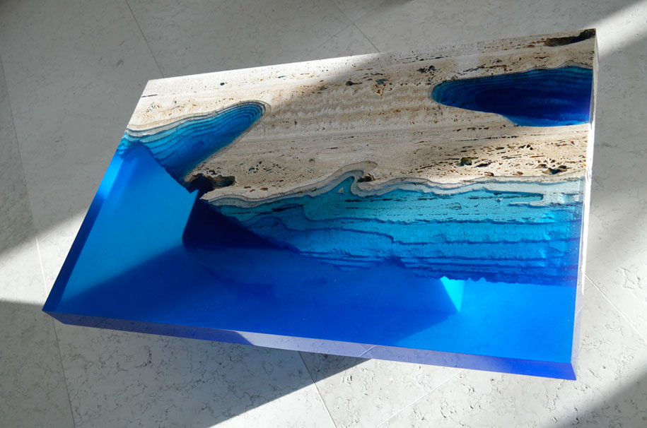 Resin Marble Lagoon Table Alexandre Chapelin 8