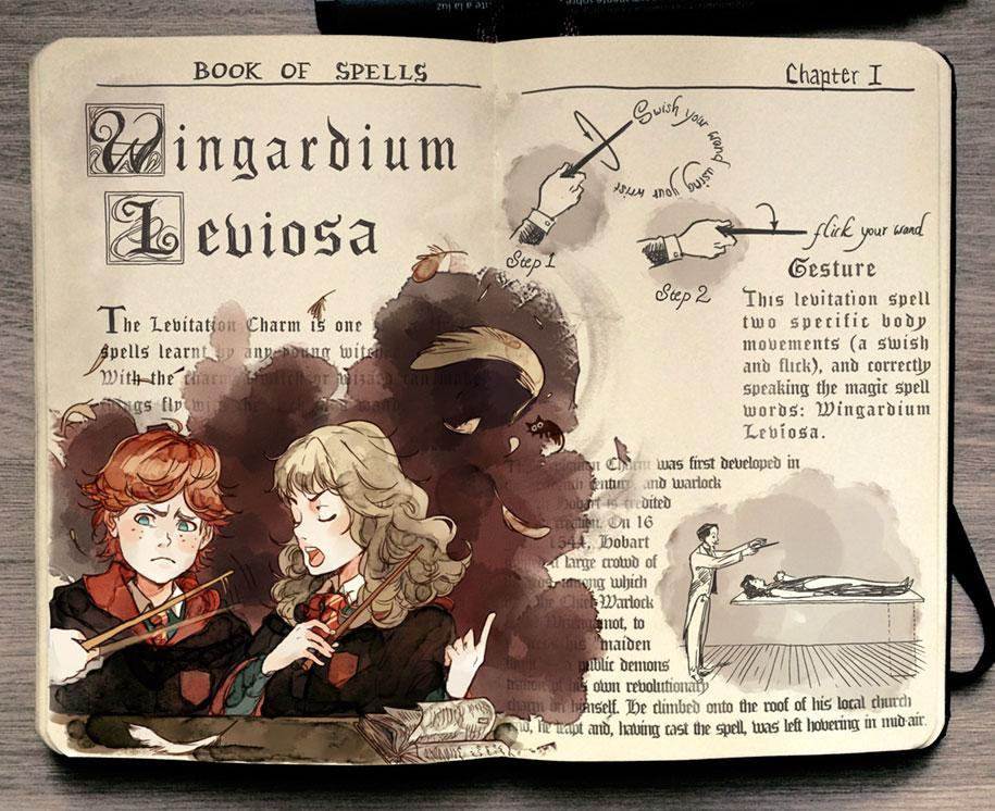 colorful-spell-harry-potter-magic-books-gabriel-picolo-kun-2