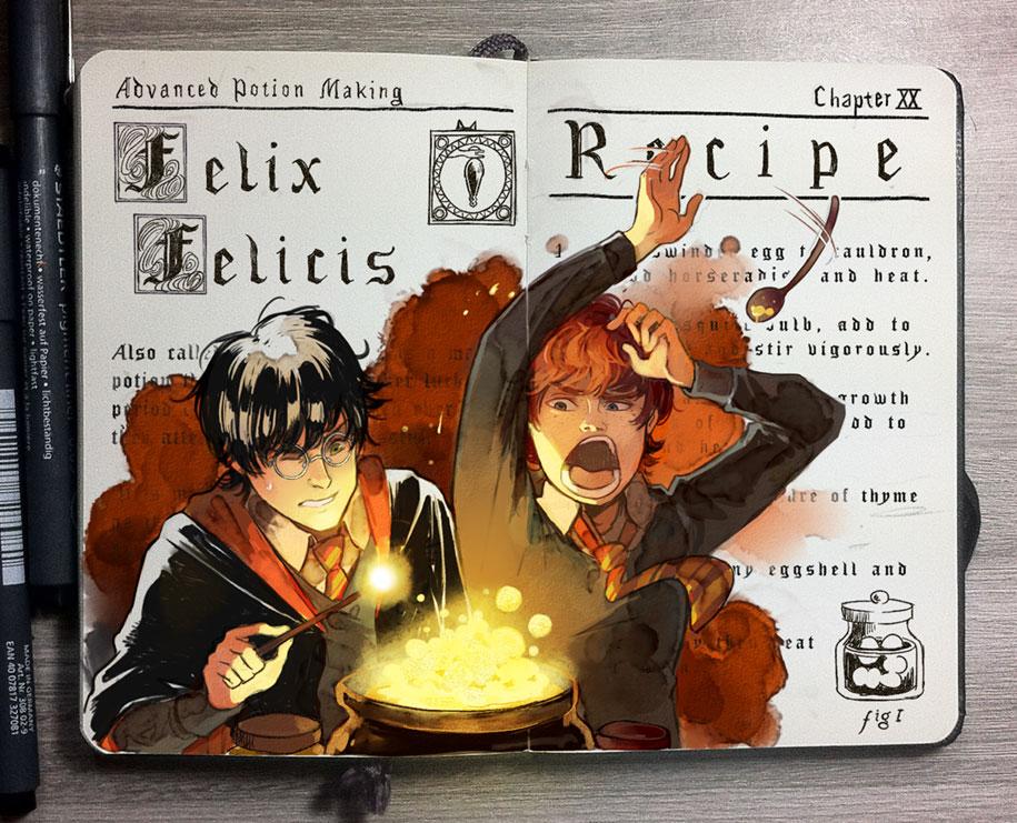 colorful-spell-harry-potter-magic-books-gabriel-picolo-kun-5