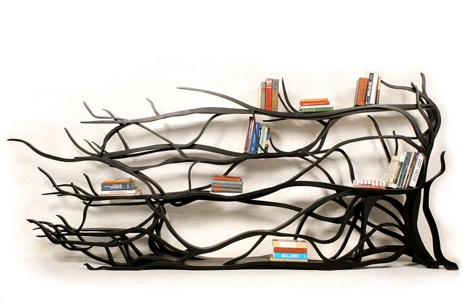 Found Branch Book Shelf Bilbao Sebastian Errazuriz Chile