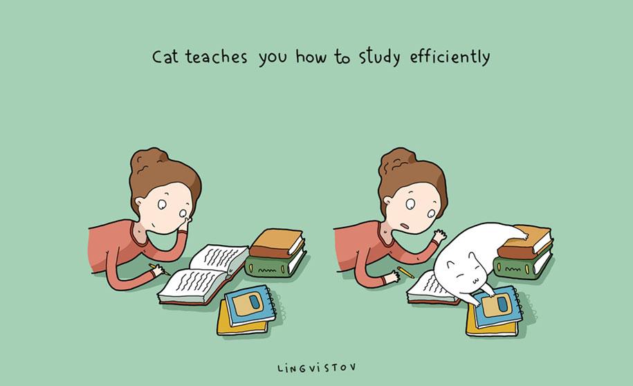 funny-illustrations-pets-benefits-of-having-a-cat-lingvistov-12