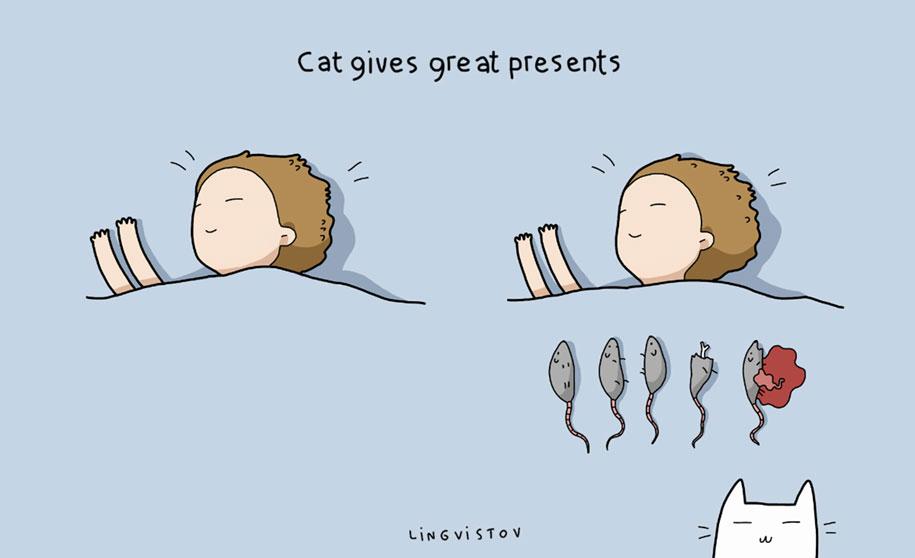 funny-illustrations-pets-benefits-of-having-a-cat-lingvistov-14