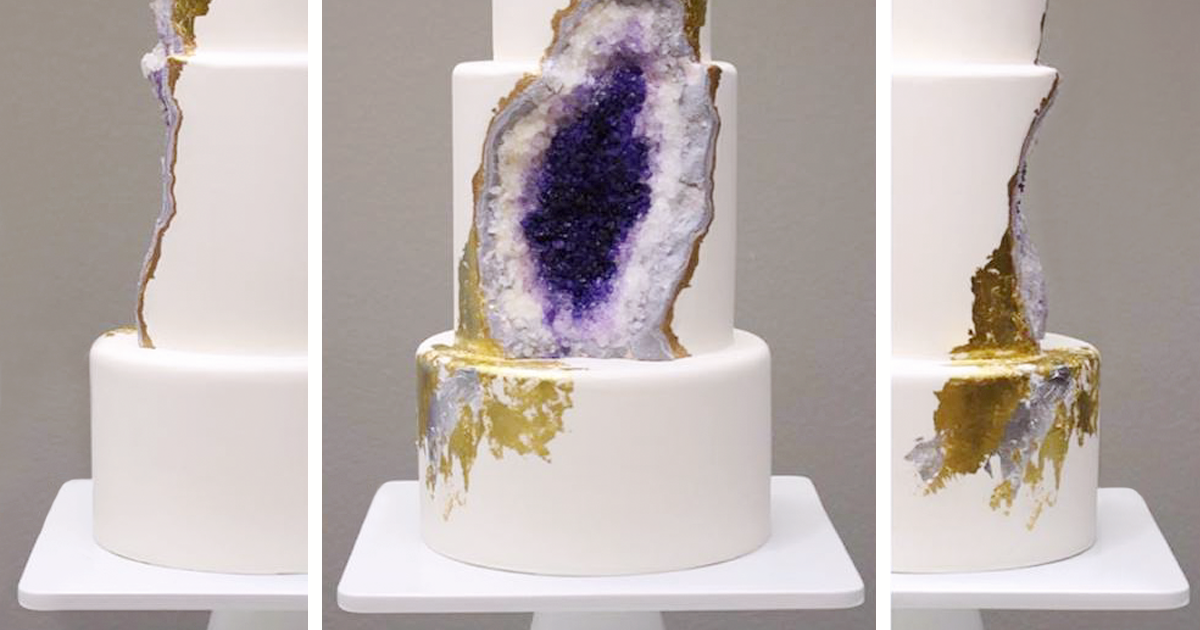 Geology Confectionary Amethyst Geode Cake Rachael Teufel on kitchen interior design
