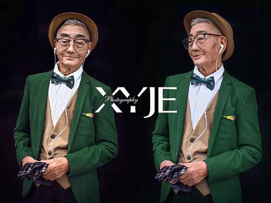 grandfather-farmer-fashion-transformation-grandson-xiaoyejiexi-photography-6