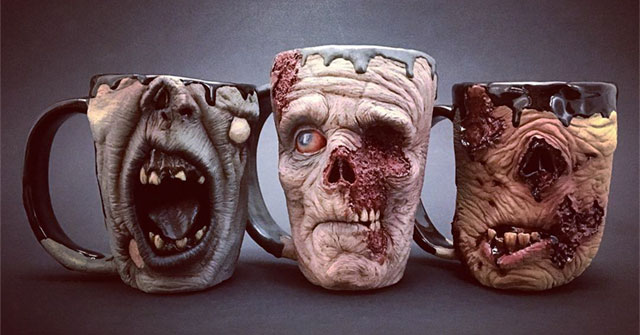Secure Your Coffee With A Scary Zombie Mug