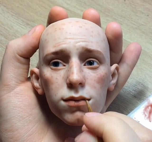 russian artist makes incredibly realistic doll faces that will make