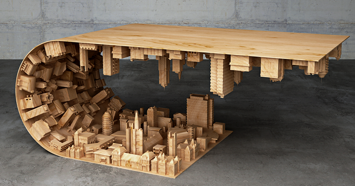 Inception coffee table by stelios mousarris for Design table replica