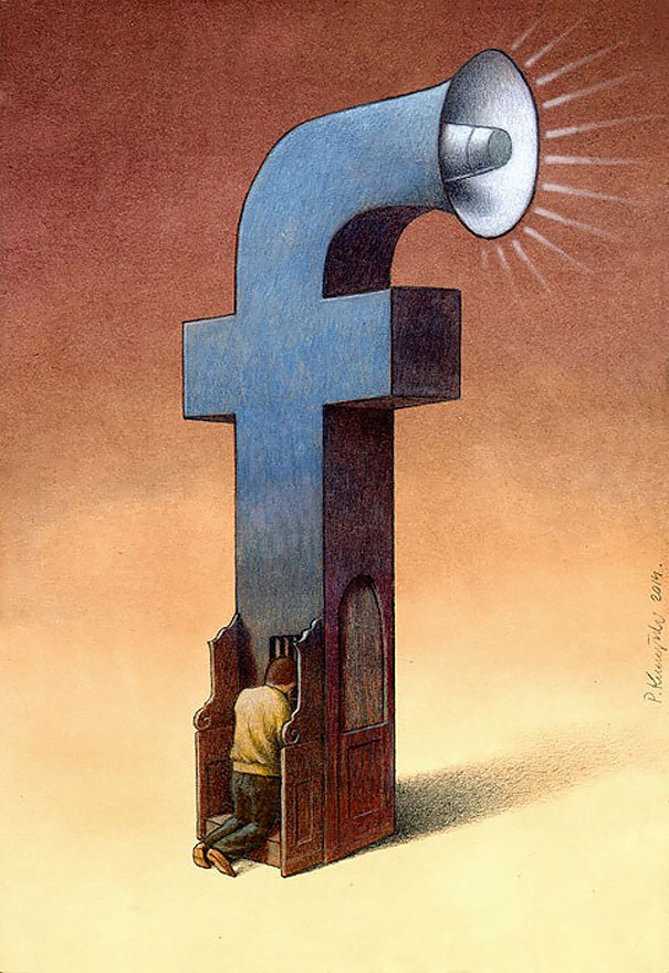Our Addiction To Technology In 20 Satirical Illustrations