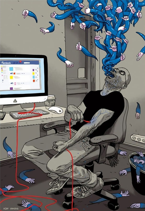 satirical-illustrations-technology-social-media-addiction-14