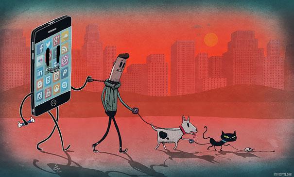 satirical-illustrations-technology-social-media-addiction-19