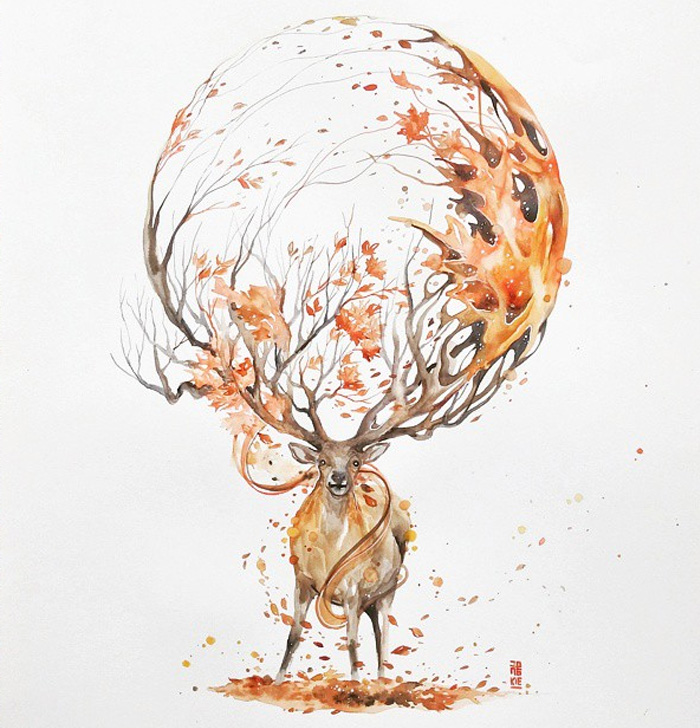 watercolor-animal-paintings-luqman-reza-mulyono-12