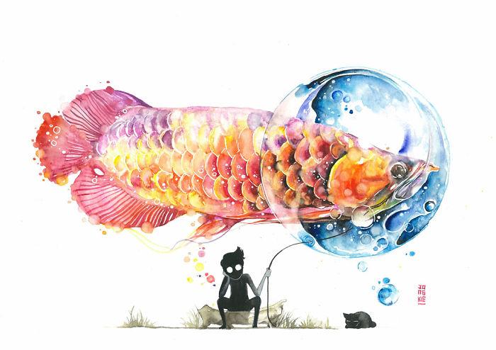 watercolor-animal-paintings-luqman-reza-mulyono-24