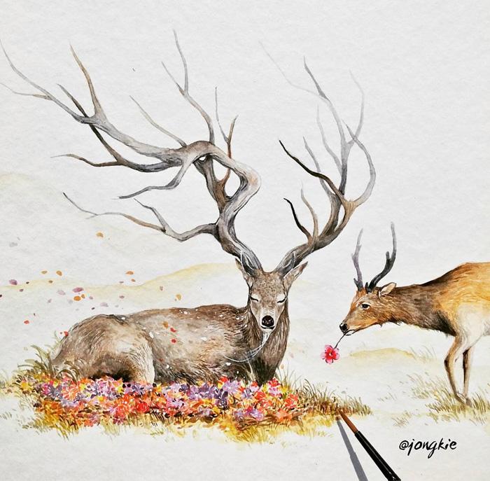 watercolor-animal-paintings-luqman-reza-mulyono-9