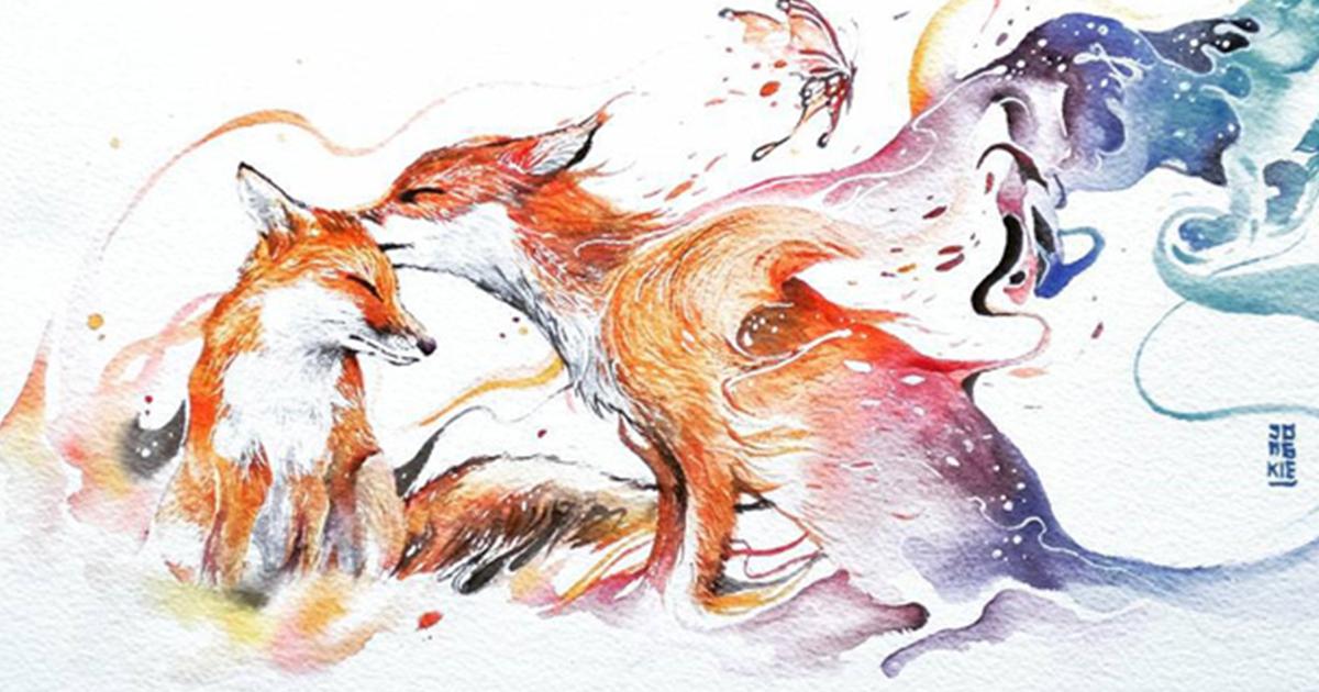 Watercolour Paintings Of Animals Defendbigbird Com