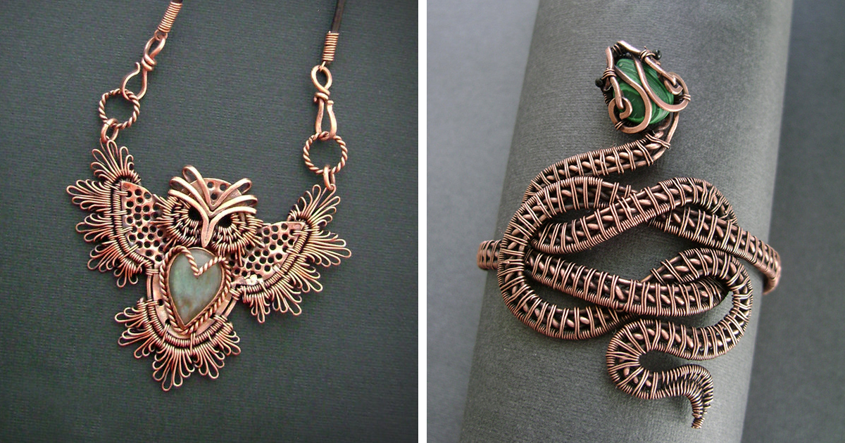 Self-Taught Russian Artist Makes Amazing Wire Wrap Jewelry