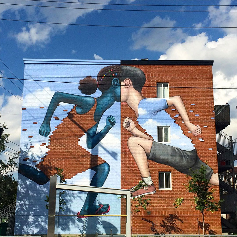 Street Artist Travels The World To Turn Boring Buildings