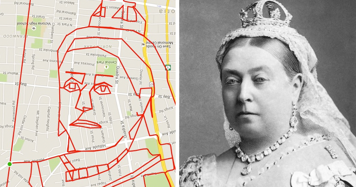 Artist Uses Bicycle And Gps To Draw Pictures On City Maps