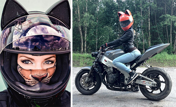 cat helmets from russia keep you cute and secure. Black Bedroom Furniture Sets. Home Design Ideas