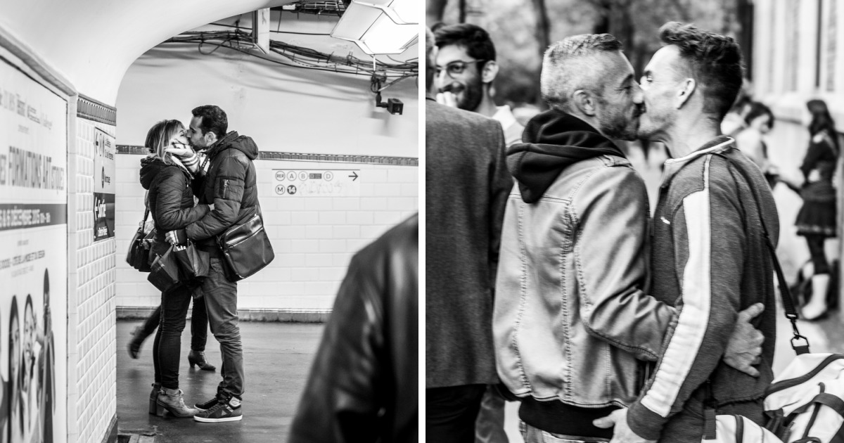 Photographer documents love in public places