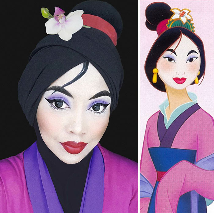 This Woman Uses Her Hijab To Transform Herself Into Disney