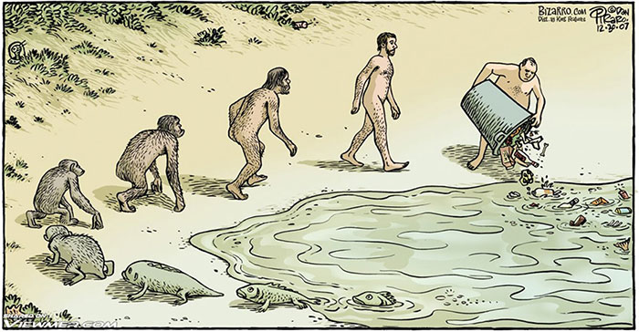 15 Satirical Evolution Cartoons That Will Make You Question Our